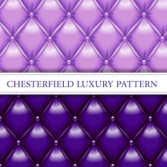 Lavender and purple elegant chesterfield seamless pattern