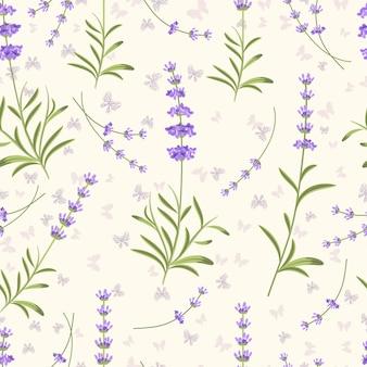 라벤더 원활한 패턴