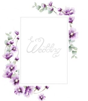 Lavender summer frame in watercolor