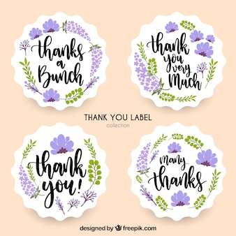 Lavender thank you label collection