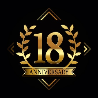 Lavish eighteenth anniversary logo