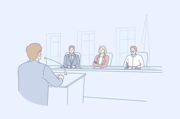 Law adjustment, court, justice concept