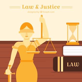 평면 디자인 법과 정의 개념