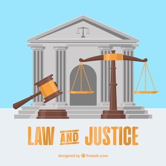 Концепция права и справедливости с плоским дизайном