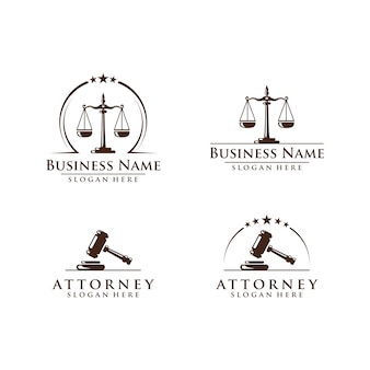 Law and attorney logo