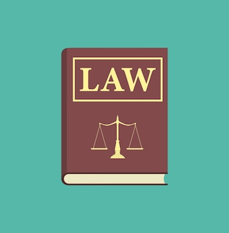 Значок книги закона. векторные иллюстрации в плоском дизайне