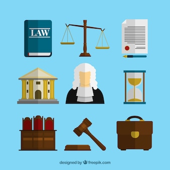 Law collection with flat design