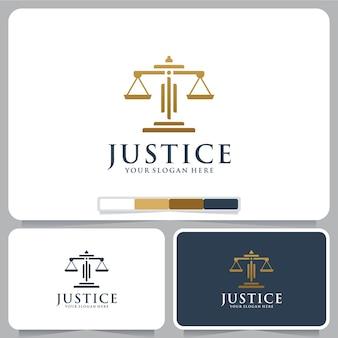 법률 회사 균형 로고 디자인 영감