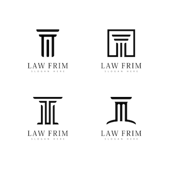 Law firm design logo icon template