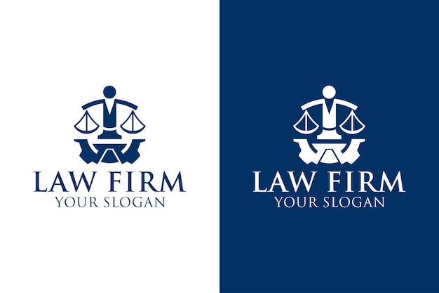 Law firm education logo design