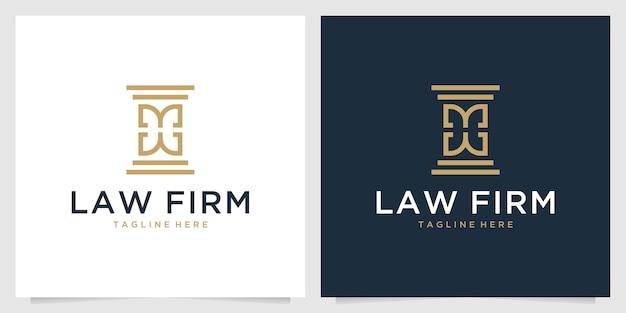 Law firm elegant logo design