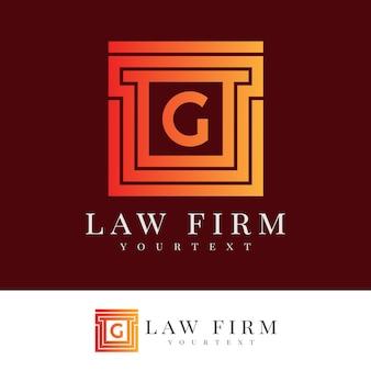 Юридическая фирма начальное письмо g дизайн логотипа