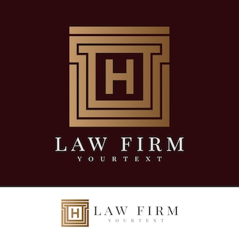 Law firm initial letter h logo design