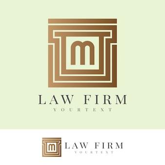 Юридическая фирма начальное письмо m дизайн логотипа Premium векторы