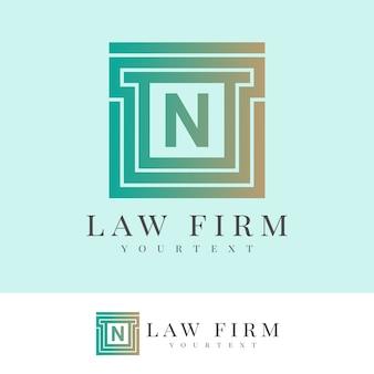 Law firm initial letter n logo design Premium Vector