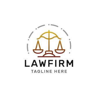 Law firm line logo