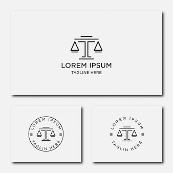 Law firm line trend logo icon