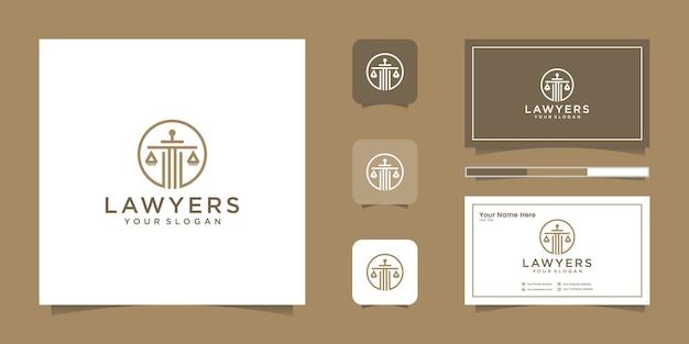 Логотип юридической фирмы и визитная карточка