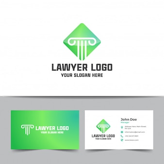 Law firm logo and business card template