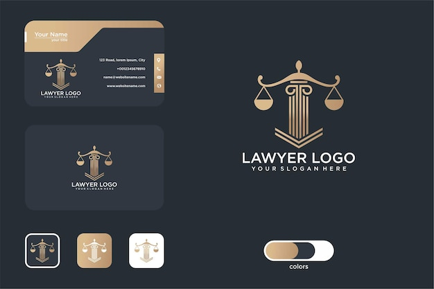 Law firm logo design and business card