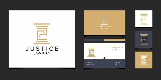 Law firm logo design templat