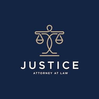 法律事務所のロゴデザインテンプレート