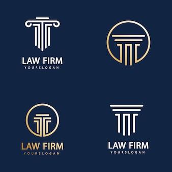 Шаблон дизайна логотипа юридической фирмы
