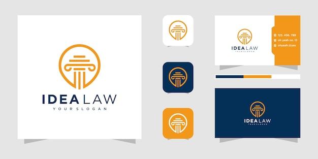 Дизайн логотипа юридической фирмы.