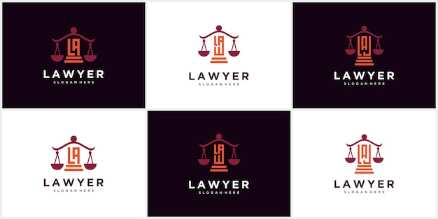 Логотип юридической фирмы, адвокатское бюро, услуги адвоката, роскошный старинный логотип эмблемы, векторный шаблон логотипа адвокатской фирмы. столб с векторным дизайном щита. шаблон дизайна иллюстрации