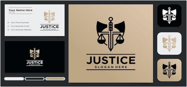 Law firm logo shield shaped lawyer justice justice logo in gold color