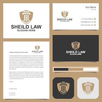 法律事務所のロゴテンプレートと名刺
