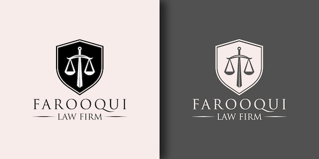 Law firm logo template with modern concept