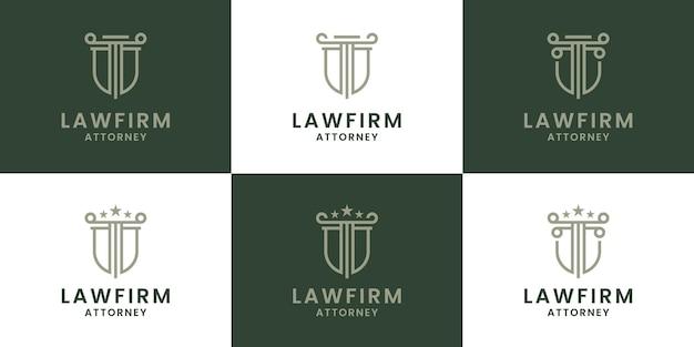 Набор дизайнов логотипа юридической фирмы для адвокатской компании