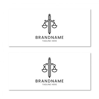 Law firm with sword logo design template