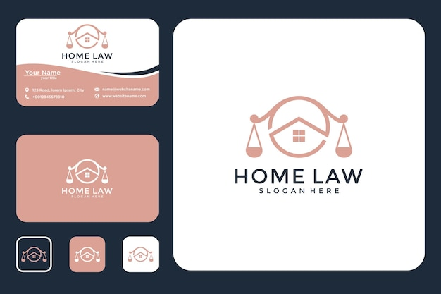 Law house logo design and business card
