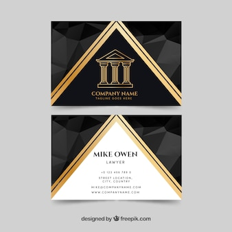 Law and justice business card templateq