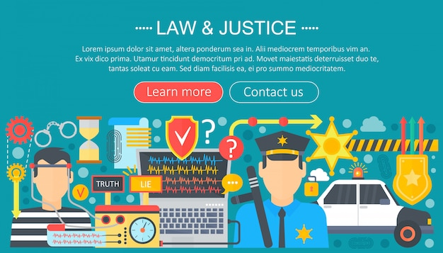 Law and justice infographics template design
