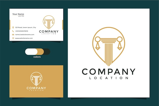 Law location logo and business card