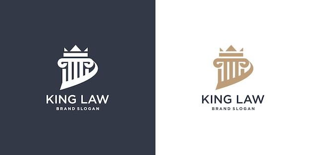 Law logo element with unique style premium vector part 2