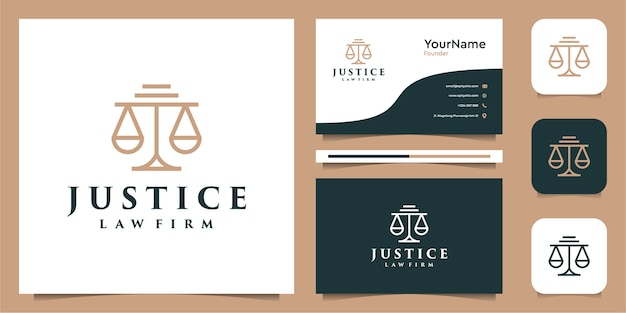 ラインアートスタイルの法律ロゴillusustrationグラフィックデザイン