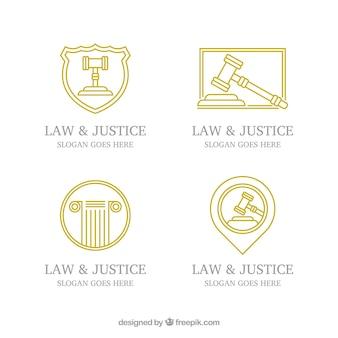 Law logotype  set