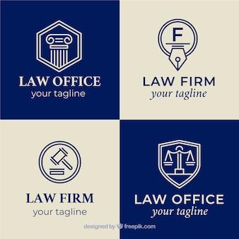 법률 로고 타입 세트