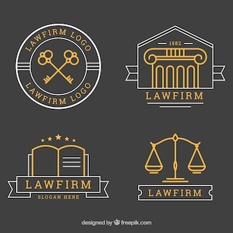 Law logotype  set