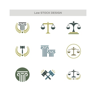 Law office logo collection. stock design element