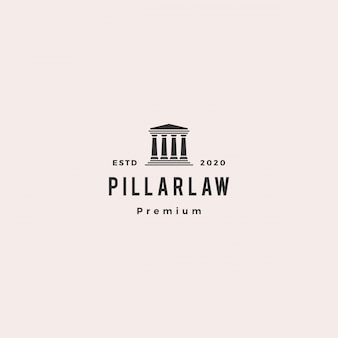 Law pillar logo hipster vintage retro