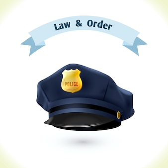 Law police hat