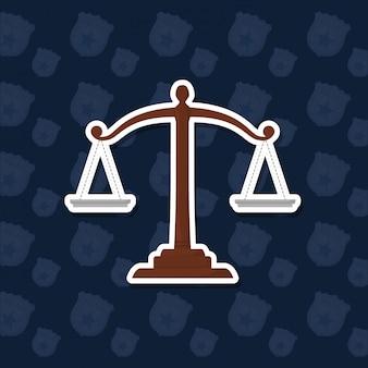 Значок масштаба закона