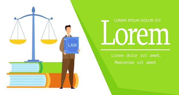 Law science degree web banner vector template
