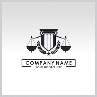 Law service logo Premium Vector