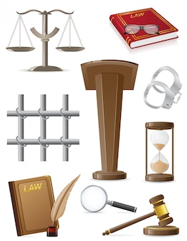 Law set icons.